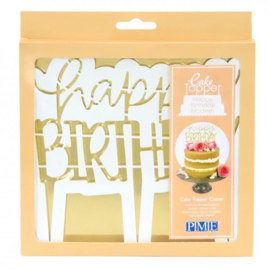 PME Cake Topper Cutter Happy Birthday - Modern