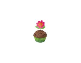 Decoratieset cupcakes bloem