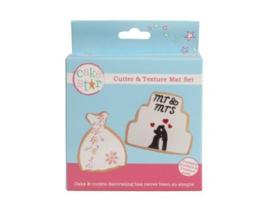 Cake Star Dress & Cake Cutters and Texture Mats set/5