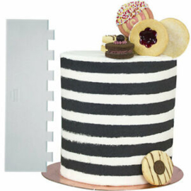PME Tall Patterned Edge Side Scraper for Cake Decorating – Stripes