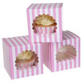 House of Marie Cupcake Box 1 -Circus Pink- pk/3