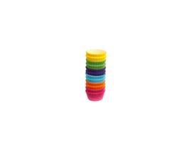 Bakpapiertjes set regenboogkleuren - 300 stuks
