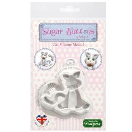 Katy Sue Mould Sugar Buttons - Cat