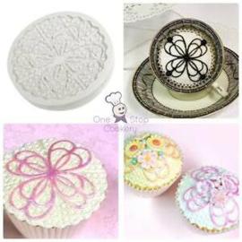 Katy Sue ANASTASIA Lace Cupcake Silicone Sugarcraft Cake Mould Art & Craft