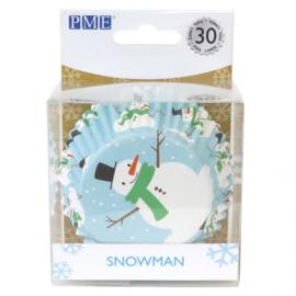PME Foil Baking Cups Christmas Snowman pk/30