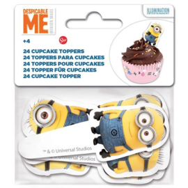 Stor Papieren Cupcake Toppers Minions pk/24