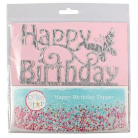 Cake Star Cake Topper Happy Birthday