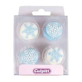 Culpitt Suikerdecoratie Sneeuwvlokken pk/12