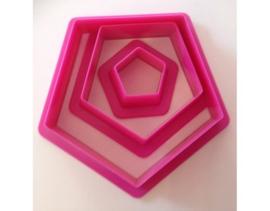 Uitsteker set vijfhoek 3 stuks