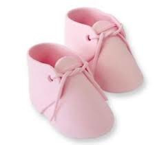 Edible Pink Baby Bootee Cake Topper