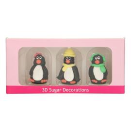 FunCakes Suikerdecoratie 3D Pinguïn Set/3