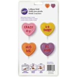 Wilton Candy Mold Conversation Heart