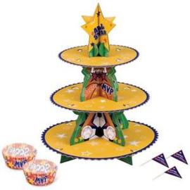 Cupcake staander set sport