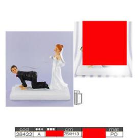 Bruidstopper man op de knieën