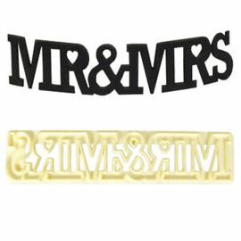 FMM Sugarcraft Mr & Mrs Curved Word Cutter | Fondant
