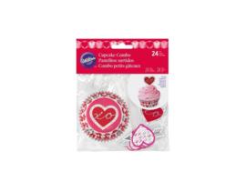 Wilton Cupcake Combo Heartfelt Confections pk/24