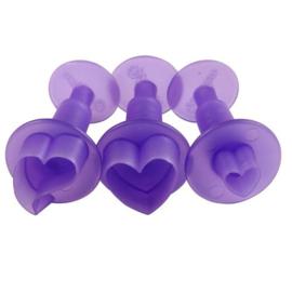 Plunger uitstekerset hartjes - 3 stuks
