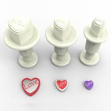 Dekofee Mini Plungers Hearts Love set/3