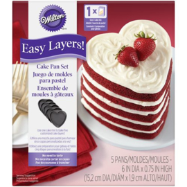 Wilton Heart Cake Pan Easy Layers Set/5