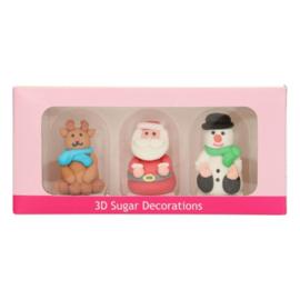 FunCakes Suikerdecoratie 3D Kerstfiguren Set/3