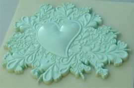 Heart cake topper mould