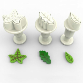 Dekofee Mini Plungers Leaves set/3