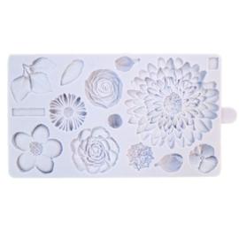 Karen Davies Siliconen Mould - Buttercream Flowers