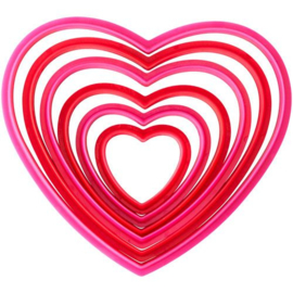 Wilton Cookie Cutter Nesting Heart Set/6