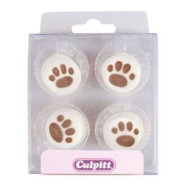 Pawprints Sugar Pipings - single | Culpitt