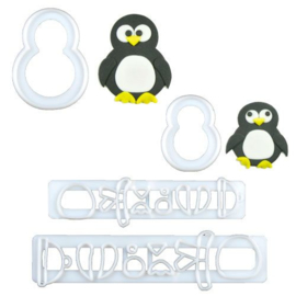 FMM Mummy & Baby Penguin Cutter Set/4