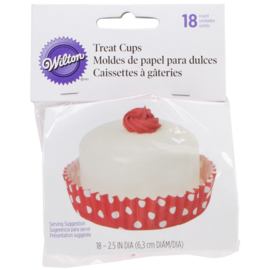 Wilton Treat Cups red White polka dots shallow