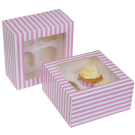 House of Marie Cupcake Box 4 -Circus Pink- pk/2