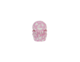 House of Marie Baking Cups Baby Roze pk/50