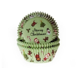 Merry Christmas - baking cups (50 st)