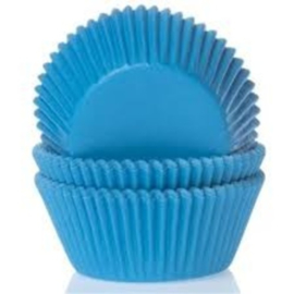 House of Marie Baking cups Cyaan blauw - pk/50