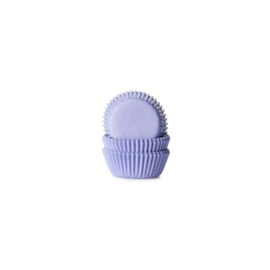 House of Marie Mini Baking Cups Effen Lila -60st-