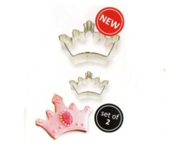 PME Cookie Cutter kroon/tiara set/2