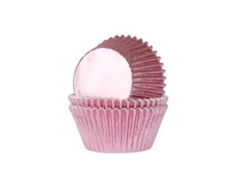 House of Marie Baking Cups Folie Baby Roze pk/24