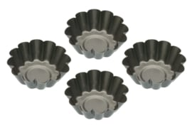 Details about KitchenCraft Set of Four Non-Stick Mini Fluted Tart Tins