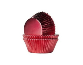 House of Marie Baking Cups Folie Rood - pk/24