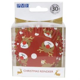 PME Foil Baking Cups Christmas Reindeer pk/30