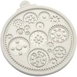 Katy Sue Mould - Cogs and Wheels Sugarcraft Mould