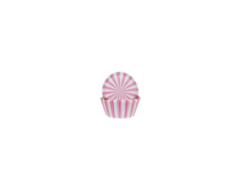 House of Marie Baking Cups Circus Pink pk/50