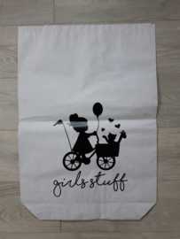 Paperbag 'girls stuff'