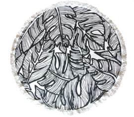 Roundie Leaf Black/White