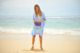 Poncho Shell Blue Wave