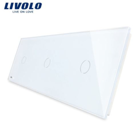 Livolo | White | Glass Panel  | Triple | 1 Gang