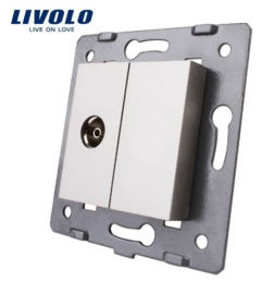 Livolo | Module | Frame | TV Socket & Cover | Grey