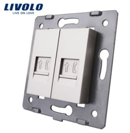 Livolo | Module | Frame | Telephone RJ11 & Telephone RJ11 | Grey