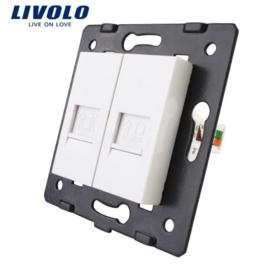 Livolo | Module | Frame | Telephone RJ11 & Network RJ45 | White